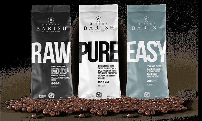 koffiebonen Mister Barish rainforest alliance keurmerk