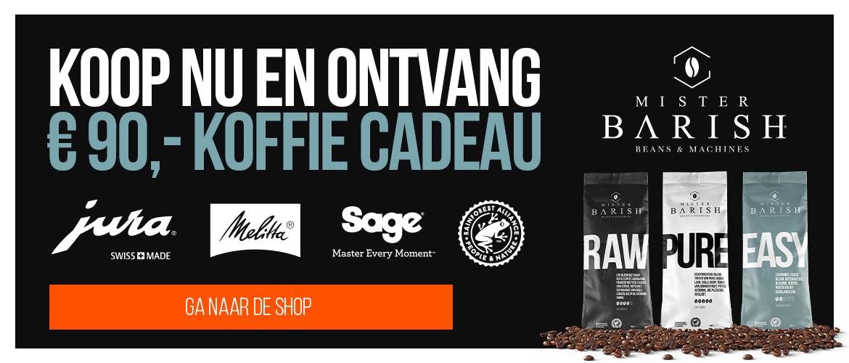 Koffie tegoed Mister Barish €90