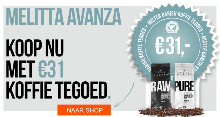 Melitta Avanza koffiemachine koffie te goed actie