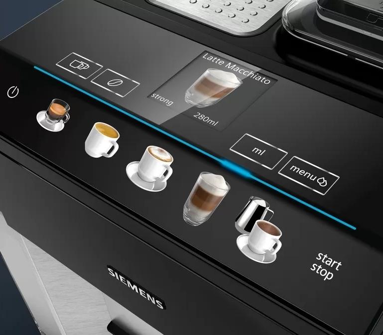 Siemens EQ500 koffiemachine scherm