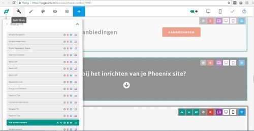 Phoenix website update pages