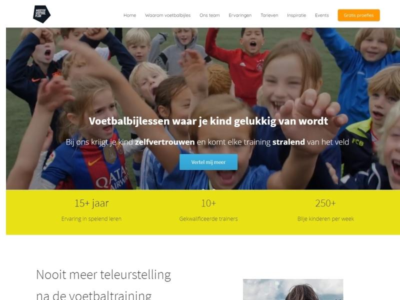 Website Mastervoetbalplan