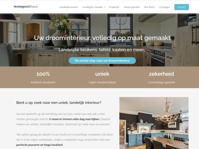 Website Nostalgisch Wonen