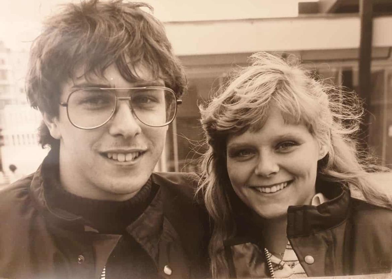 Rob en Caroline jong en in motorpak