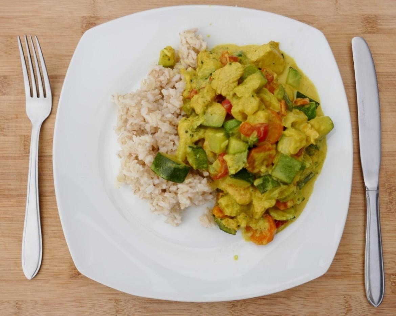 kalkoen- en groentencurry veel volume weinig kcal