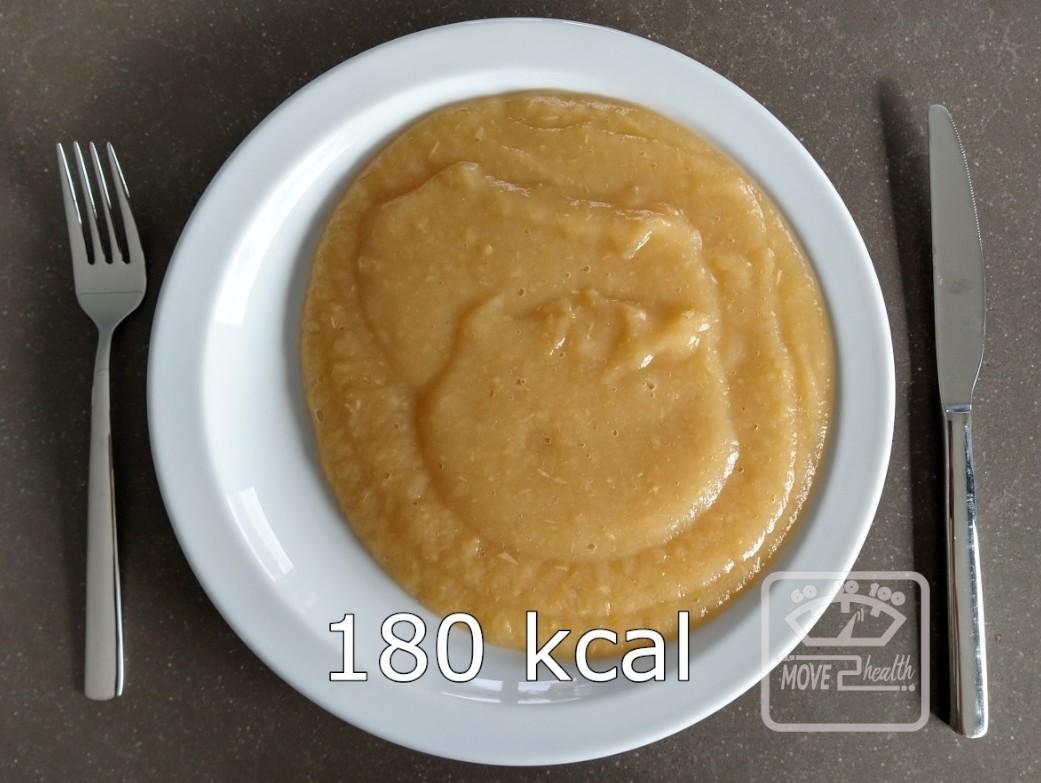 appelmoes gezond caloriearm recept portie 180 kcal afvallen