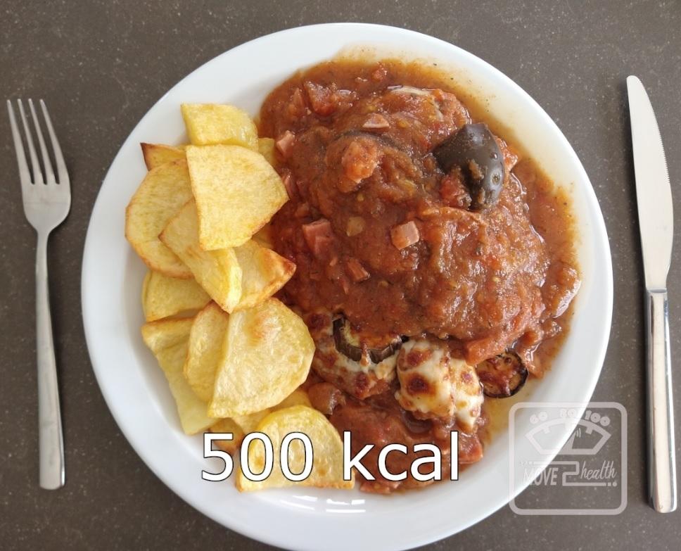 aubergine met tomatensaus en ham caloriearm recept 500 kcal