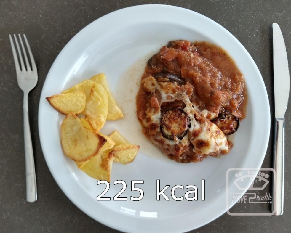aubergine met tomatensaus en ham caloriearm recept 225 kcal