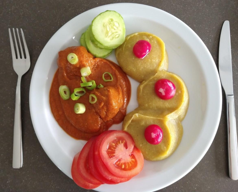 balletjes in tomatensaus met bloemkoolpuree gezond en caloriearm recept