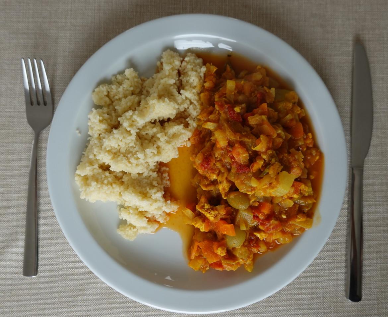 Couscous met wintergroenten en kip - 300 kcal veel volume weinig kcal
