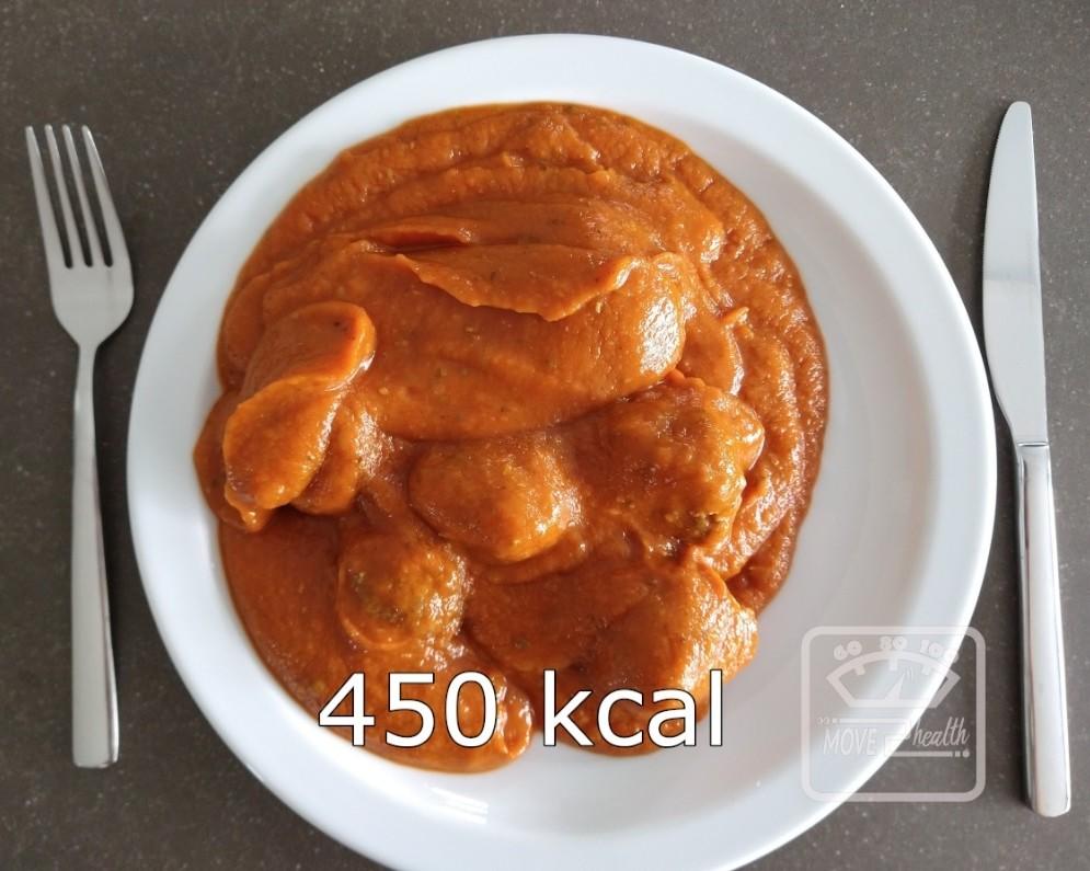 gehaktballetjes met tomatensaus rundergehakt 450 kcal portie voedingswaarde