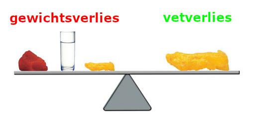 gewichtsverlies of vetverlies
