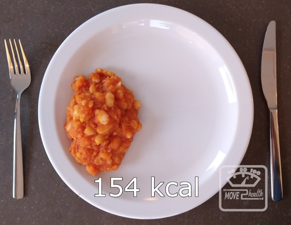 gezonde witte bonen tomatensaus caloriearm recept 154 kcal portie