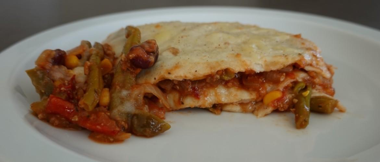 Mexicaanse bonen lasagne