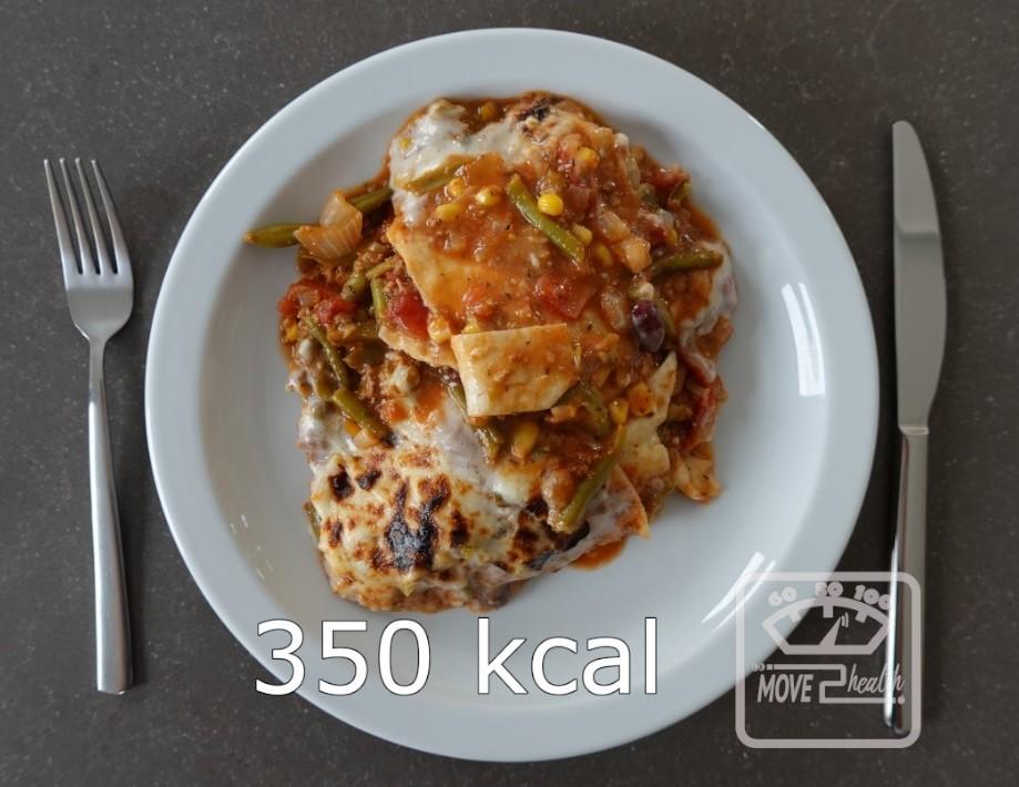 Mexicaanse bonen lasagne portie van 350 kcal