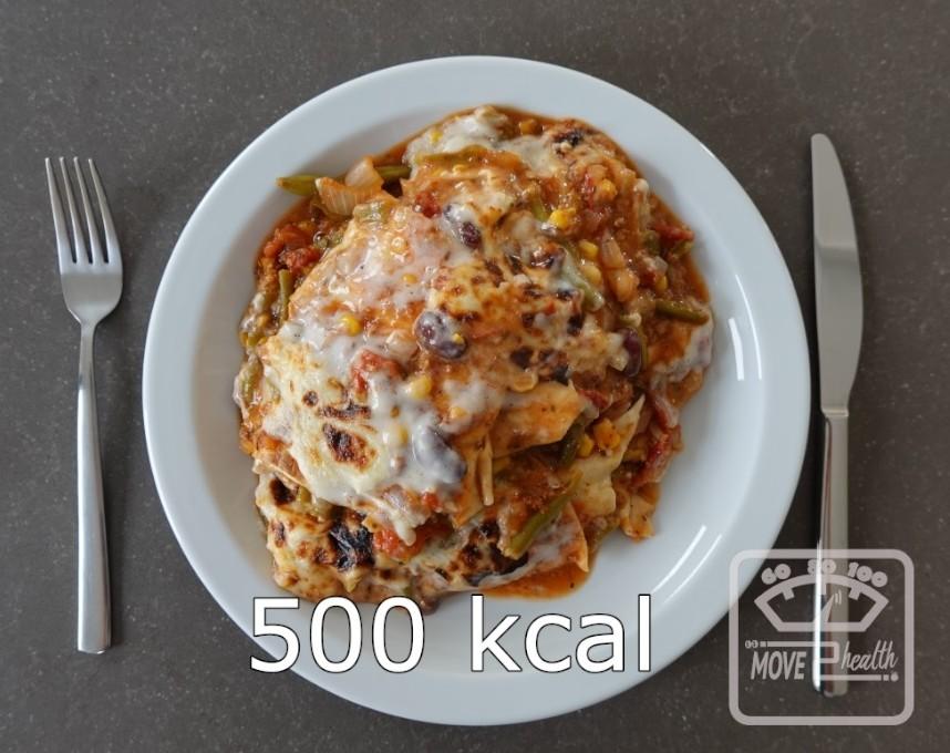 Mexicaanse bonen lasagne portie van 500 kcal