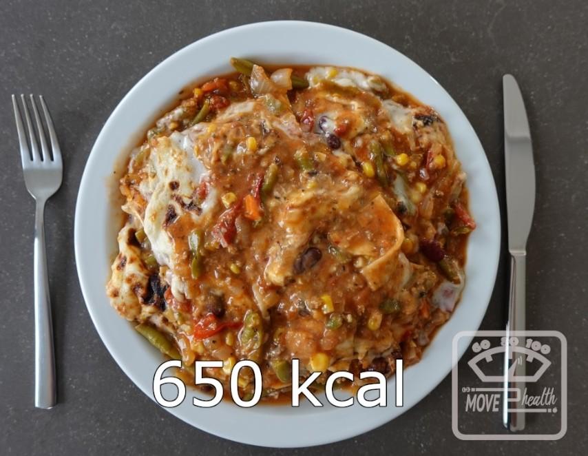 Mexicaanse bonen lasagne portie van 650 kcal