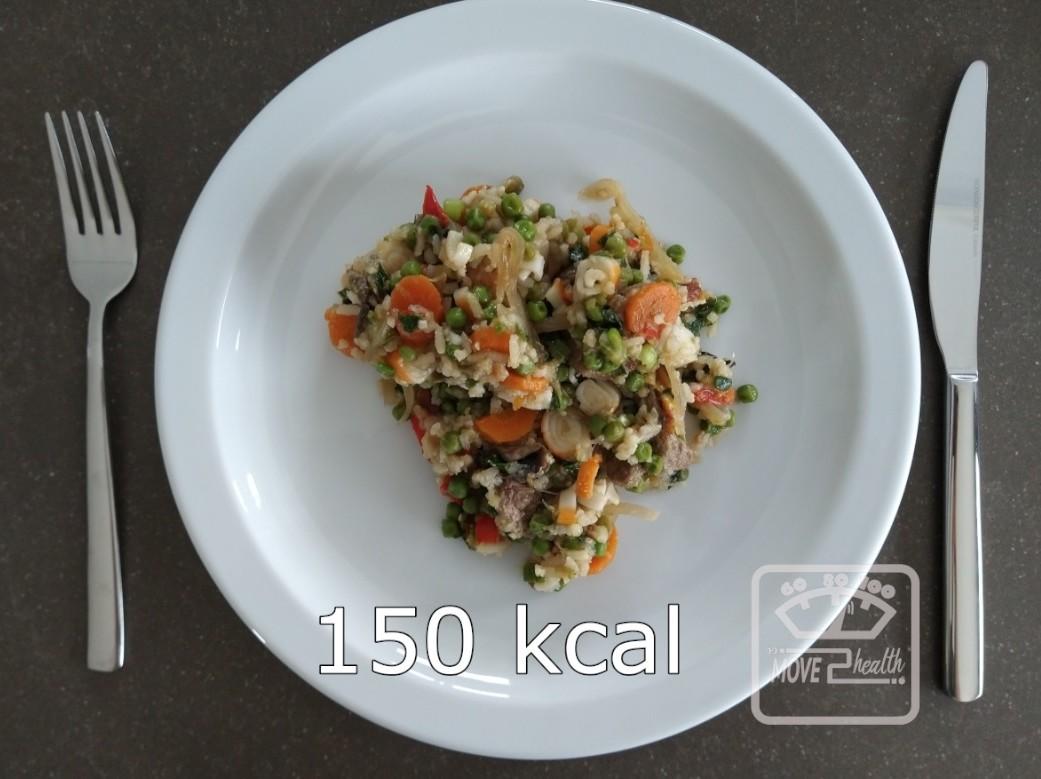 nasi goreng caloriearm portie van 150 kcal voedingswaarde