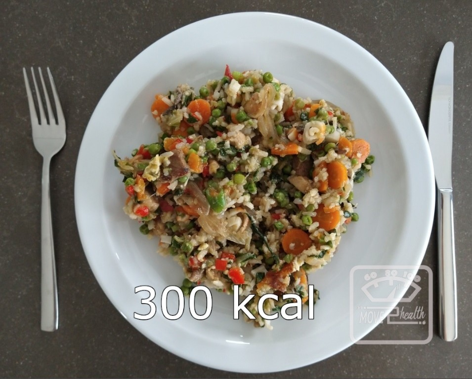 nasi goreng caloriearm portie van 300 kcal voedingswaarde