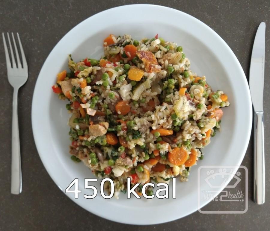 nasi goreng caloriearm portie van 450 kcal
