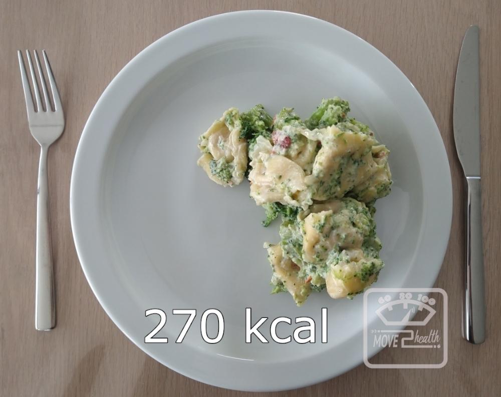 tortellini met geitenkaas en broccoli 270 kcal portie caloriearm gezond vegetarisch