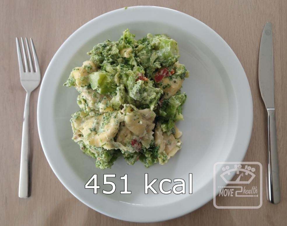 tortellini met geitenkaas en broccoli 451 kcal portie caloriearm gezond vegetarisch