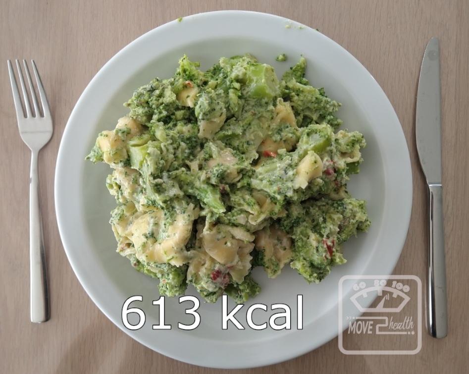 tortellini met geitenkaas en broccoli 613 kcal portie caloriearm gezond vegetarisch