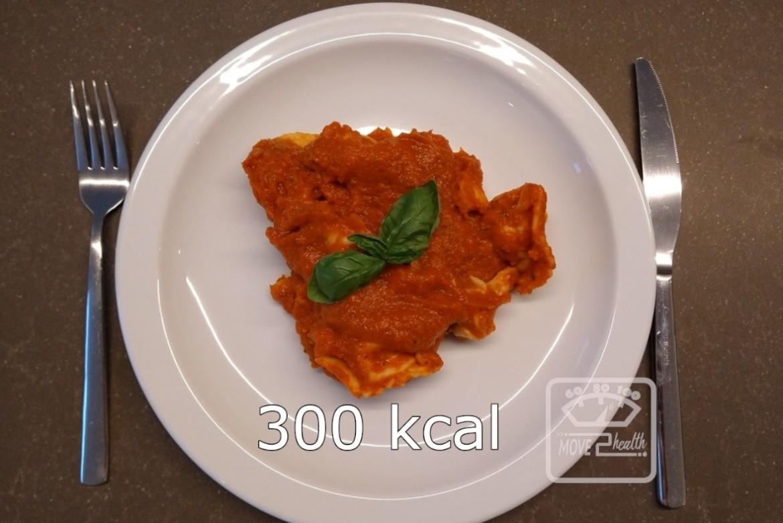 vegetarische tortellini met tomatensaus 300 kcal