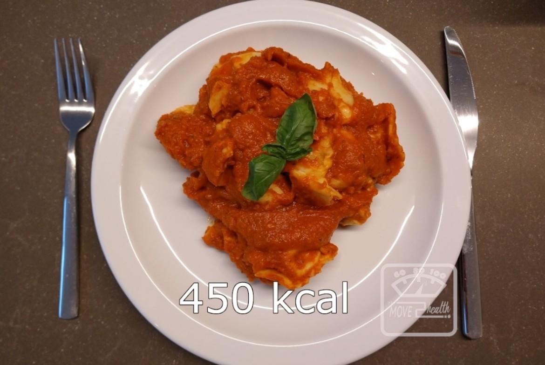 vegetarische tortellini met tomatensaus 450 kcal