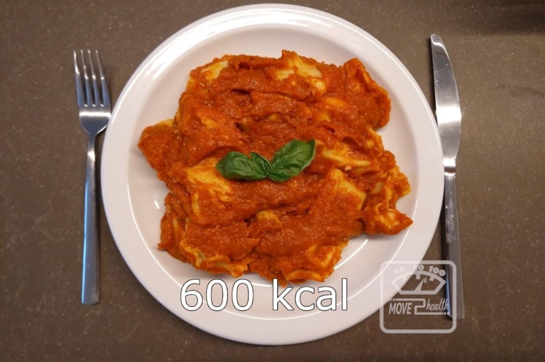 vegetarische tortellini met tomatensaus 600 kcal