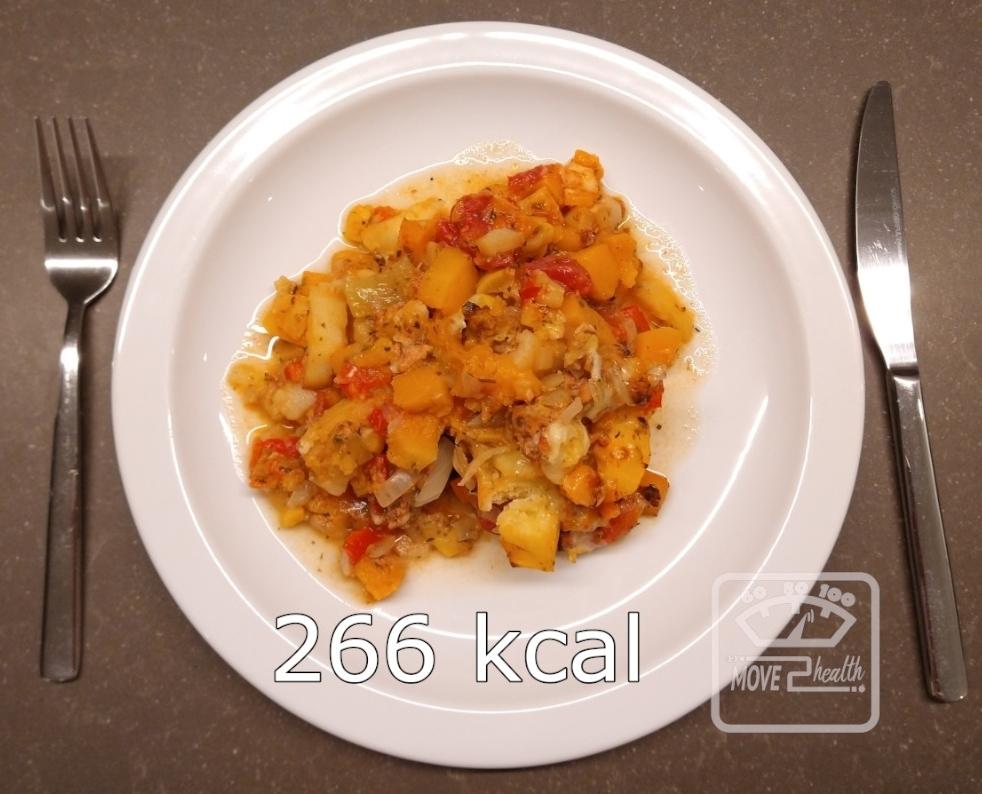 winterse groenteschotel met kippengehakt caloriearm gezond portie 266 kcal