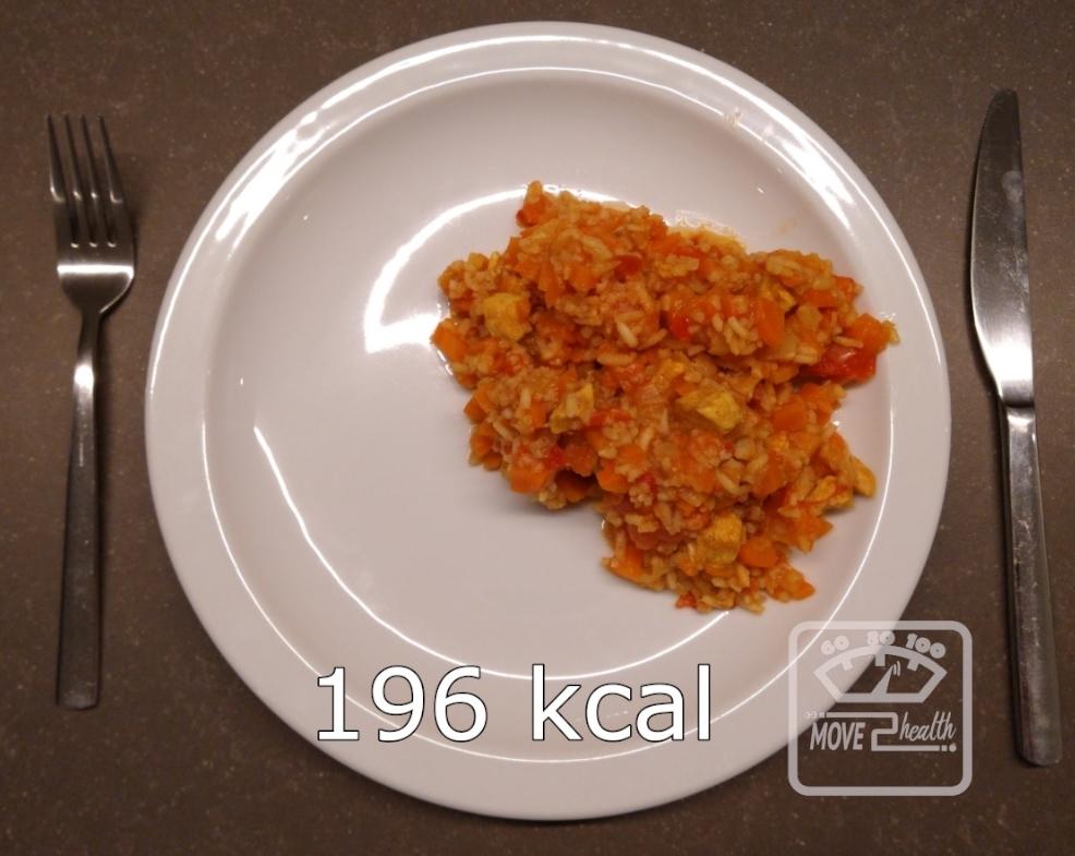 wokschotel met rijst en kip caloriearm en gezond recept voedingswaarde 196 kcal