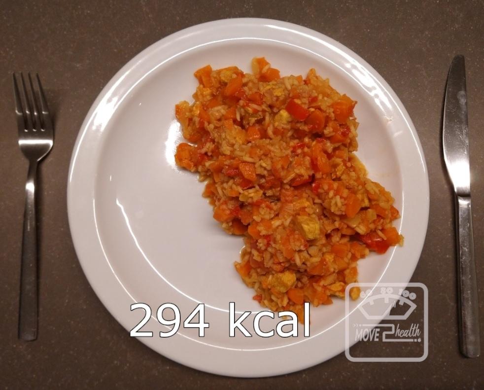 wokschotel met rijst en kip caloriearm en gezond recept voedingswaarde 294 kcal