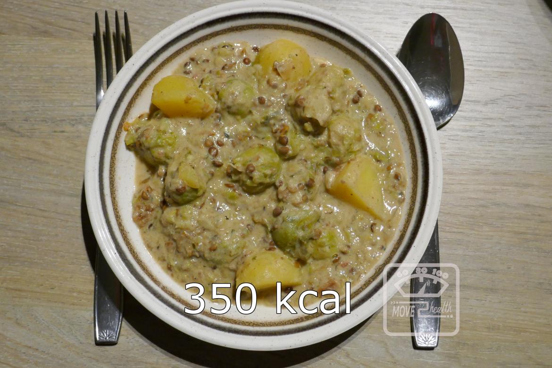 stoofpot met linzen en spruiten 350 kcal