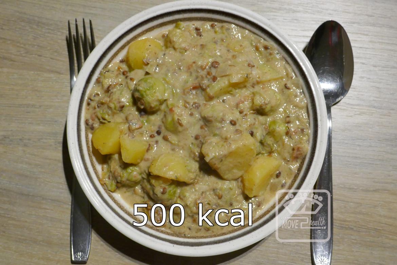 stoofpot met linzen en spruiten 500 kcal