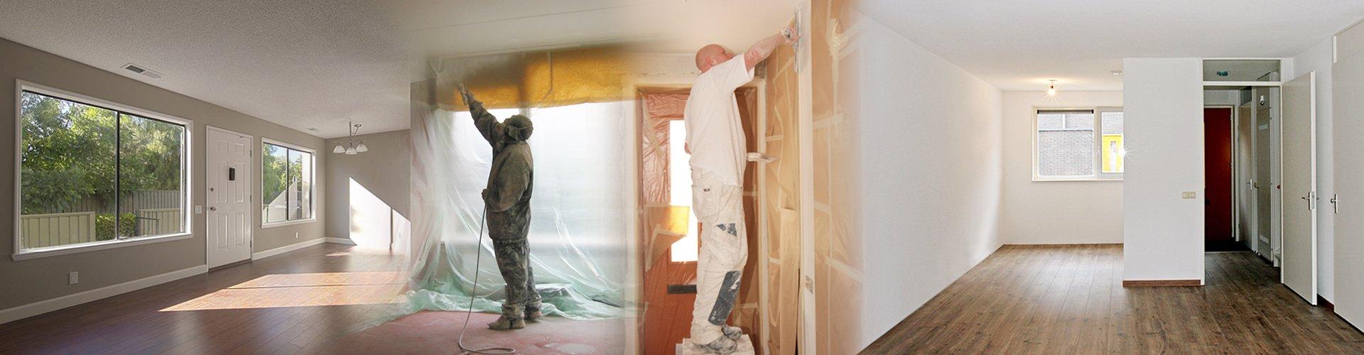muur verven en plafond verven