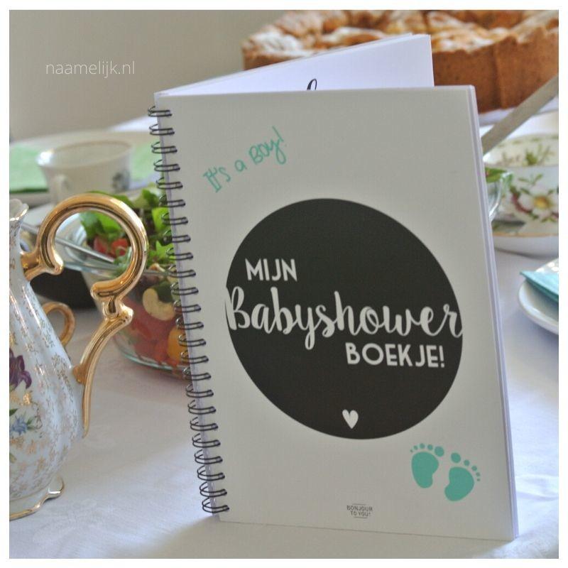 Babyshower versiering boekje