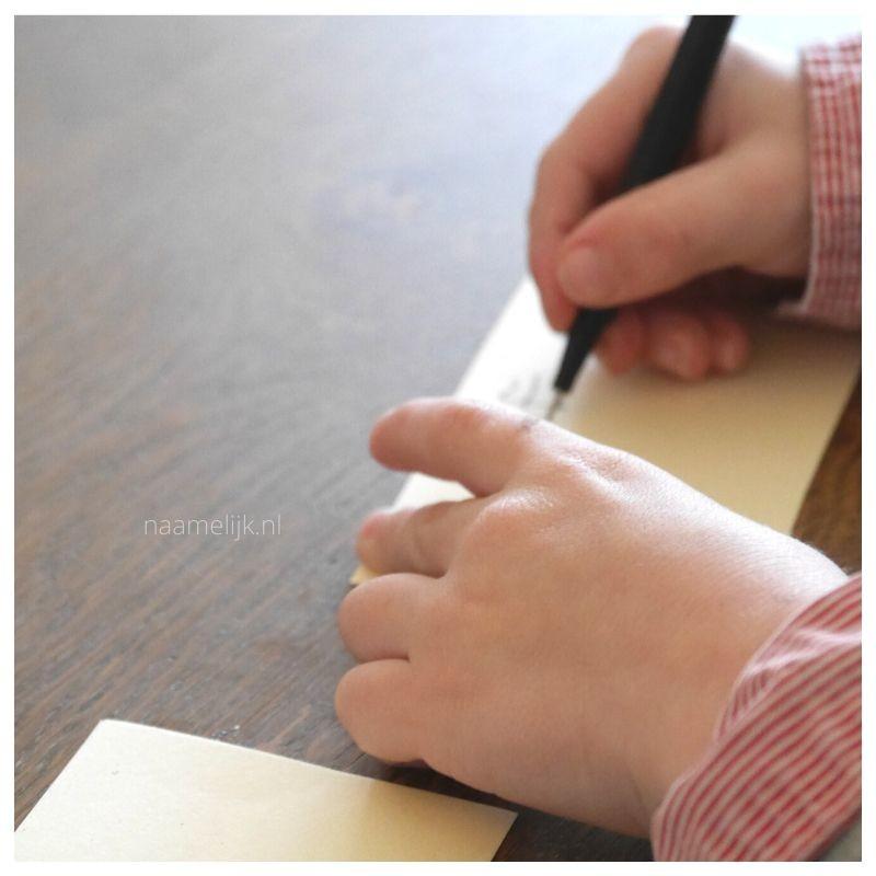 Bucket List Blik lootje schrijven handjes