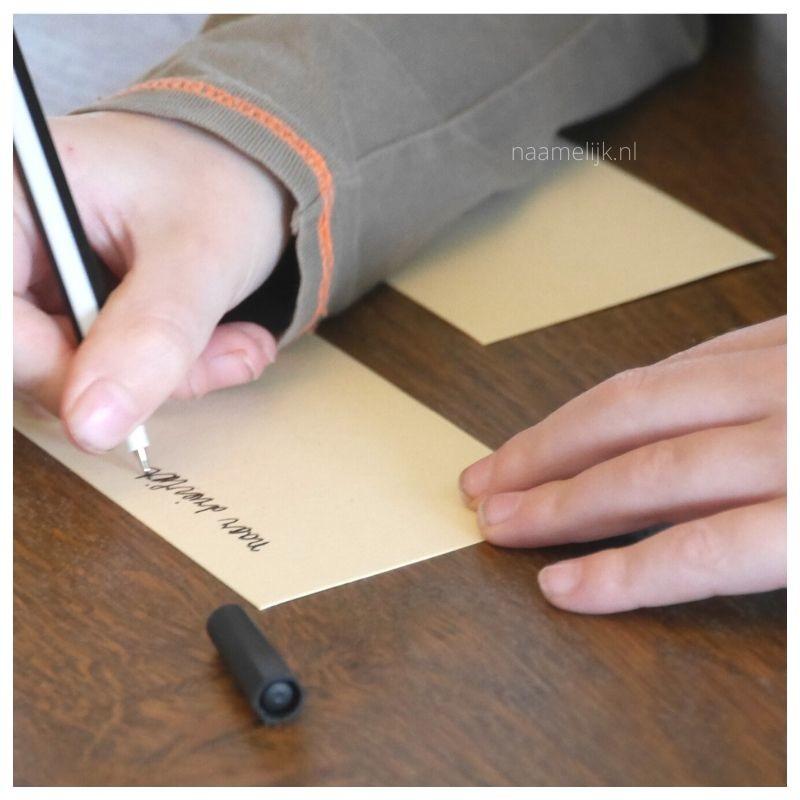 Bucket List Blik lootje schrijven