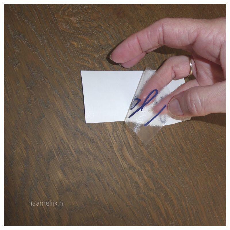 Geboortebord maken in 8 stappen - sticker los
