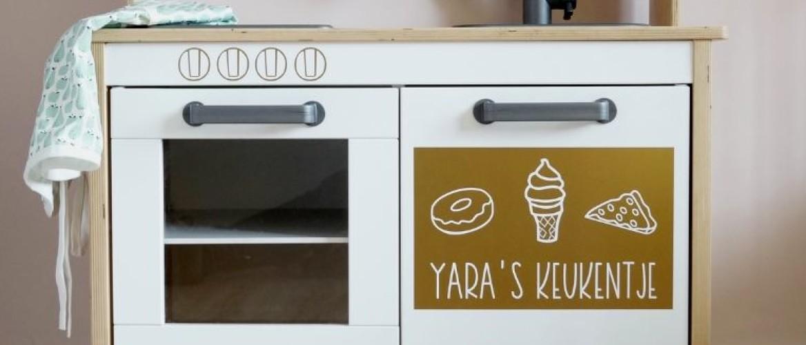 Pimp gemakkelijk je Ikea speelkeukentje zonder verf!