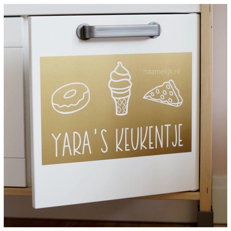 Ikea keukentje pimpen zonder verf - sticker lekkers
