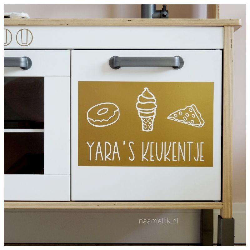 Ikea keukentje pimpen zonder verf - deurtje