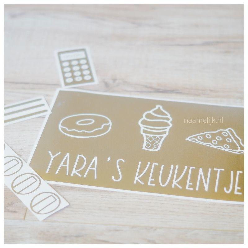 Ikea keukentje pimpen zonder verf - stickers