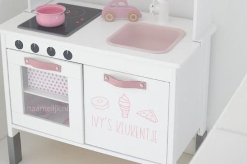 Keukenstickers voor op Ikea Duktig speelkeuken