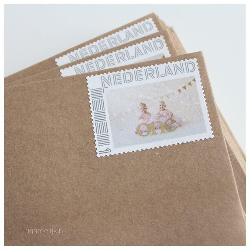 Tweelingverjaardag postzegel