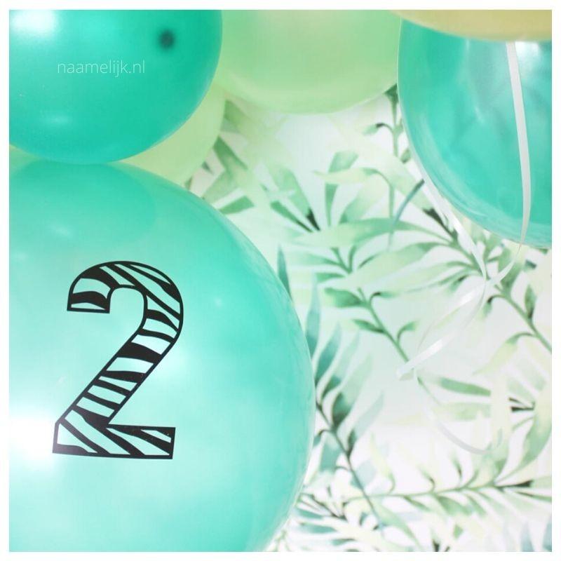 Themafeestje zebra leeftijd op ballon