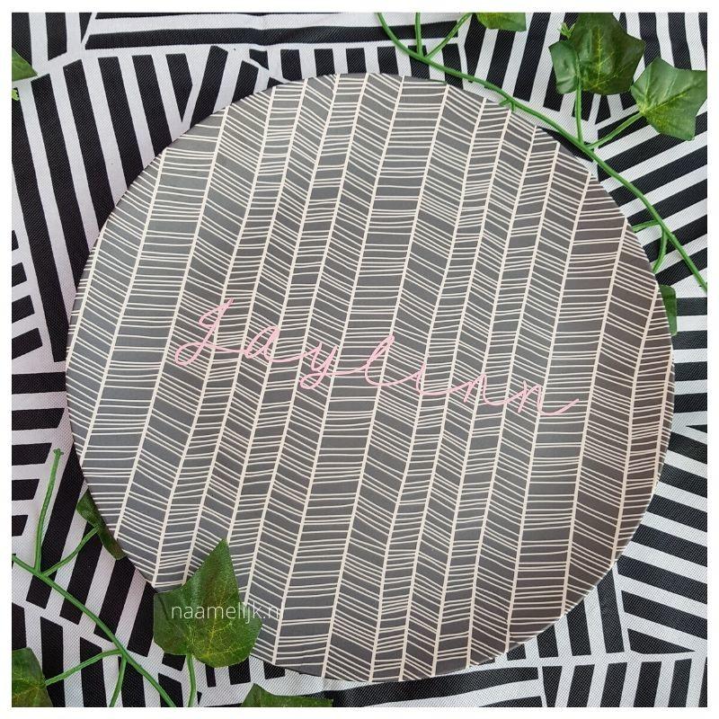 Themafeestje zebra naamsticker op taartplateau