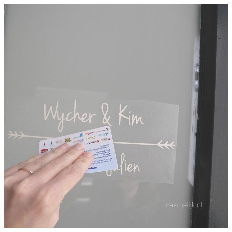 Voordeur pimpen met voordeurstickers sticker op deur