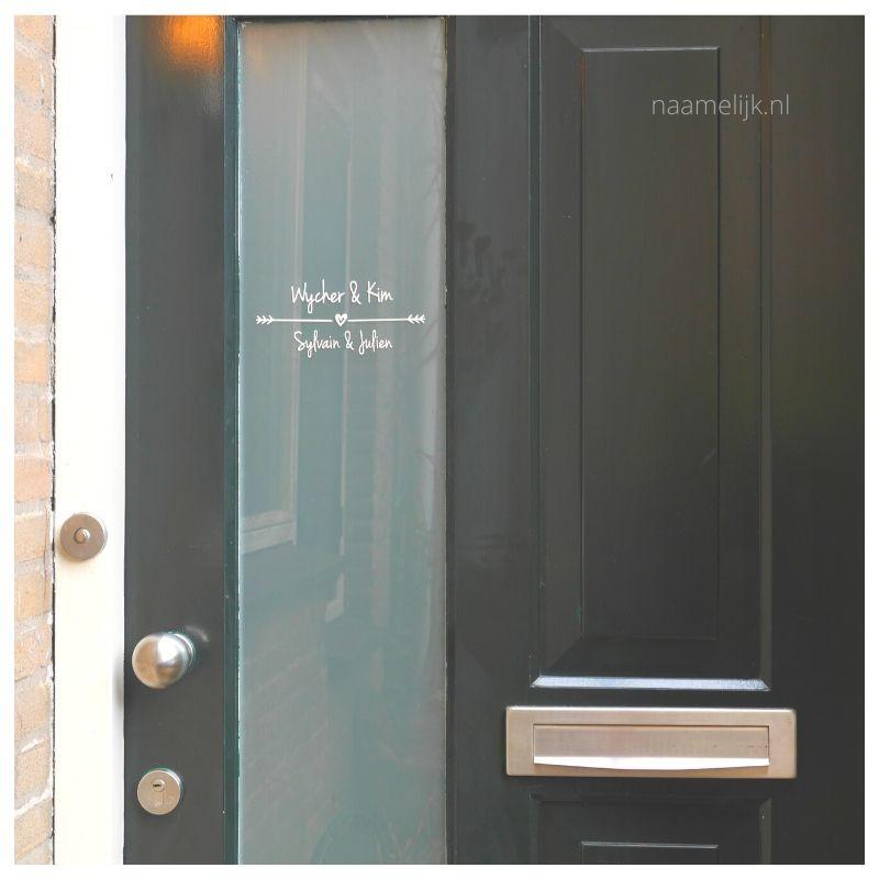 Voordeur pimpen met voordeurstickers resultaat op voordeur